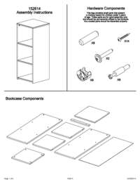 Book Case Assembly Instructions