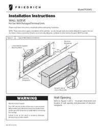 Wall Sleeve Installation Instructions