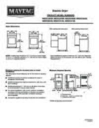 Electric Dryer Dimension Guide EN