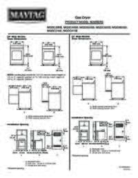 Gas Dryer Dimension Guide
