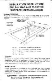 Cooktop Manual