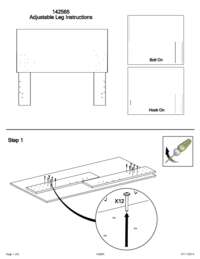 Headboard Adjustable Height Instructions