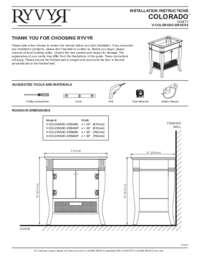 V COLORADO DOOR XXXX Installation Instructions