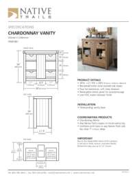 Chardonnay Vanity Specifications