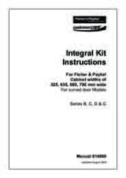 Integration Kit Instructions - Series B, C, D & G