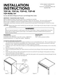 Top Kit - Installation Instructions (208 KB)