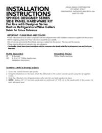 Custom Side Panel Hardware Kit - SPHKDS - Installation Instructions (179 KB)