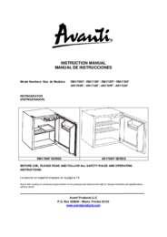 Instruction Manual: Model AR171BF - 1.7 CF All Refrigerator - Black