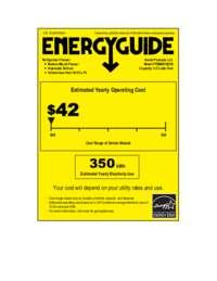 Energy Guide Label: Model FFBM45136SS - 4.5 CF Bottom Mount Freezer / Refrigerator