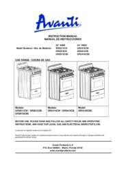 "Instruction Manual: Model GR2416CSS - 24"" Gas Range"