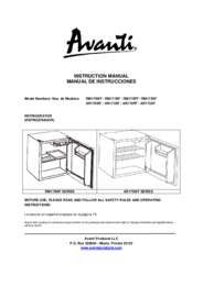Instruction Manual: Model RM171BF - 1.7 CF Refrigerator - Black