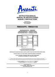Instruction Manual: Model RMS551SS - SIDE-BY-SIDE Refrigerator/Freezer