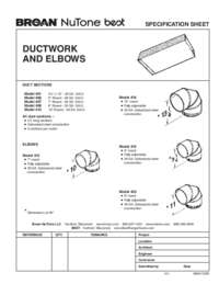 Ductwork Elbows Specification Sheet 99041120K