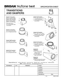 Transitions Dampers Specification Sheet 99041123W