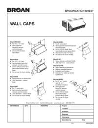 Wall Caps Specification Sheet 99042286R