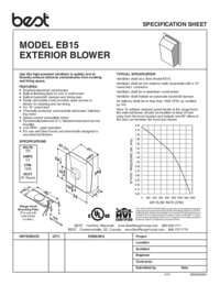 EB15 Specification Sheet 99042939H