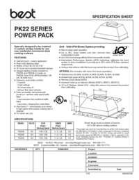 PK22 Specification Sheet 99045074E