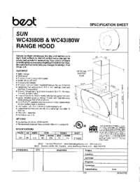 WC43I80B-W Specification Sheet 99044879B