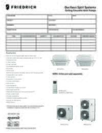 2015 Ductless Cassette Single Zone Heat Pump Submittal