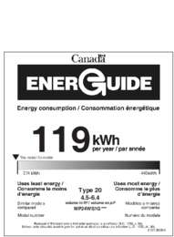 Energy Guide - Glass Door (Canada)