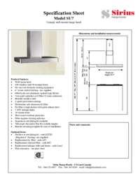 Dimensions & Spec Sheet
