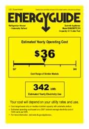 BI605BFFCSS Energy Guide