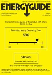 BI605FF Energy Guide