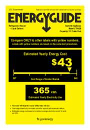 CT663B Energy Guide