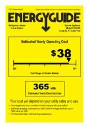CT663BIF Energy Guide