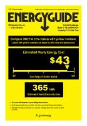 CT663BSSHHADA Energy Guide