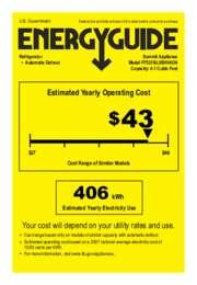 FF521BLSSHVADA Energy Guide