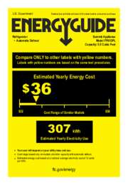 FF61DPL Energy Guide
