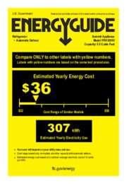 FF61SSHV Energy Guide