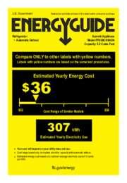 FF63BCSSADA Energy Guide