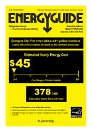 FFBF245SSX Energy Guide