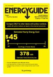 SCFF1842CSSADA Energy Guide