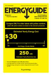 SPR627OSCSSTB Energy Guide