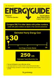 SPR627OSSSHV Energy Guide