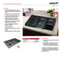 "36"" Transitional Gas Cooktop Quick Reference Guide"