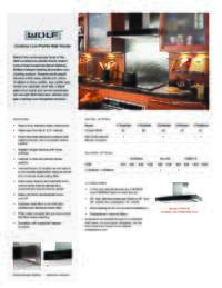 Cooktop Low-Profile Wall Hood Quick Reference Guide