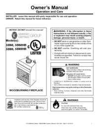 4013 301A SB60 SB80 Owners Manual