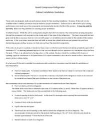 Compressor Cabinet Installation Guide