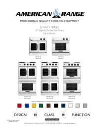 American Range Aroffe230 30 Inch Double Wall Oven In