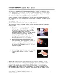 Schot Use and Care Guide