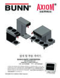 Installation and Operating Instructions Korean