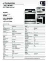 LSSG3016ST Spec Sheet