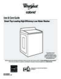 WTW8700EC Use and Care EN