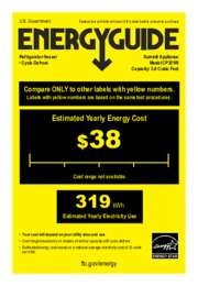 EnergyGuide CP351W