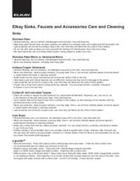 Care & Cleaning