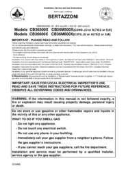 CB36M500X Installation, Use & Care Manual 2015